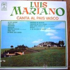 Discos de vinilo: LUIS MARIANO - CANTA AL PAIS VASCO . Lote 33797860