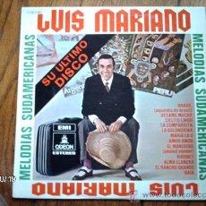 Discos de vinilo: LUIS MARIANO - MELODIAS SUDAMERICANAS . Lote 33797894