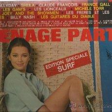 Discos de vinilo: LP TEENAGE PARTY, ESPECIALE SURF: JOHNNY HALLYDAY, SHEILA, FRANCE GALL, LES GUITARES DU DIABLE, ETC . Lote 33777568