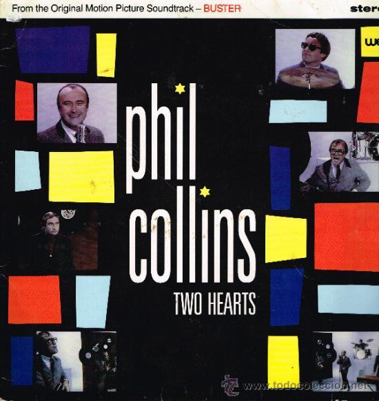 PHIL COLLINS - TWO HEARTS / THE ROBBERY - MAXISINGLE 1988 (Música - Discos de Vinilo - Maxi Singles - Bandas Sonoras y Actores)