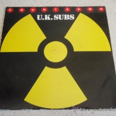 Discos de vinilo: U.K. SUBS ( COUNTDOWN - PLAN OF ACTION ) ENGLAND-1981 SINGLE45 NEMS. Lote 33785947