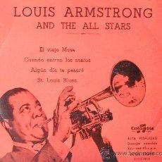 Discos de vinilo: LOUIS ARMSTRONG - EL VIEJO MOSE + 3 (EP) . Lote 33787541
