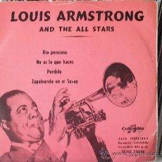 Discos de vinilo: LOUIS ARMSTRONG - RIO PEREZOSO + 3 (EP). Lote 33787602
