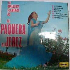 Discos de vinilo: LP LA MAESTRIA FLAMENCA DE LA PAQUERA DE JEREZ. MARFER. Lote 33788505