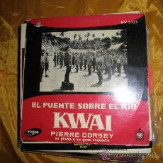 Discos de vinilo: EL PUENTE SOBRE EL RIO KWAI. PIERRE DORSEY Y SU PIANO. VOGUE 1958. Lote 33810215