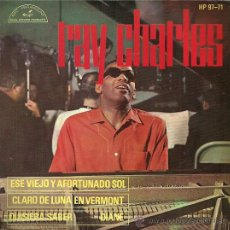 Discos de vinilo: RAY CHARLES EP SELLO PARAMOUNT AÑO 1963 EDITADO EN ESPAÑA.. Lote 33812003