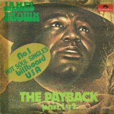 Discos de vinilo: JAMES BROWN SINGLE SELLO POLYDOR AÑO 1974 EDITADO EN ESPAÑA. Lote 33812094