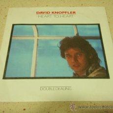 Discos de vinilo: DAVID KNOPFLER ( HEART TO HEART - DOUBLE DEALING ) 1984-HOLANDA SINGLE45 POLYDOR. Lote 33812167