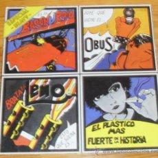 Discos de vinilo: ESPECIAL HEAVY LP CHAPA DISCOS OBUS LEÑO BARON ROJO. Lote 34056719