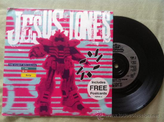"7"" JESUS JONES-THE RIGHT DECISION-PROMO (Música - Discos - Singles Vinilo - Pop - Rock Extranjero de los 90 a la actualidad)"