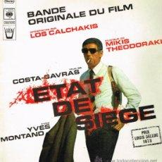 Discos de vinilo: LOS CALCHAKIS / MIKIS THEODORAKIS - BSO ETAT DE SIEGE - LP 1973 - PORTADA DOBLE. Lote 33818742