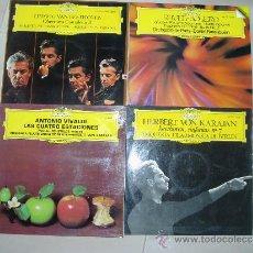 Discos de vinilo: LOTE 4 LPS BEETHOVEN RAVEL VIVALDI VON KARAJAN DEUTSCHE GRAMMOPHON SPAIN EX+. Lote 33855864