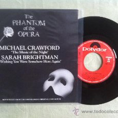 "Discos de vinilo: 7"" MICHAEL CRAWFORD-THE MUSIC OF THE NIGHT. Lote 33885671"