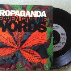 """Discos de vinilo: 7"""" PROPAGANDA-HEAVEN GIVE ME. Lote 33885931"""