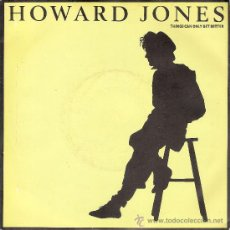 Discos de vinilo: HOWARD JONES - THINGS CAN ONLY GET BETTER / WHHY LOOK FOR THE KEY (45 RPM) EDIC. INGLESA - EX/EX. Lote 33890924