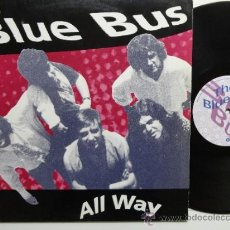 Discos de vinilo: THE BLUE BUS ALL WAY LP MACACO RECORDS 1991. SPANISH PSYCH GARAGE.RARE.. Lote 33896091