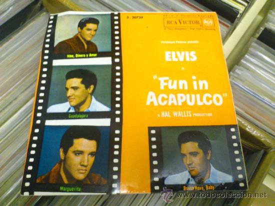 ELVIS PRESLEY FUN IN ACAPULCO DISCO DE VINILO DE 7 PULGADAS (Música - Discos de Vinilo - EPs - Rock & Roll)