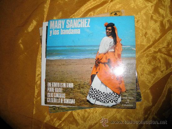 MARY SANCHEZ Y LOS BANDAMA. EP. 1UE BONITO ES MI TEROR + 3. ALHAMBRA 1959 (Música - Discos de Vinilo - EPs - Solistas Españoles de los 70 a la actualidad)