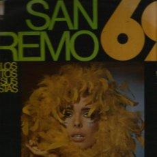 Discos de vinilo: LP SAN REMO 69 ( CATERINA CASELLI, JOHNNY DORELLI, RICCARDO DEL TURCO, MASSIMO RANIERI, GIGLIOLA CIN. Lote 33909093