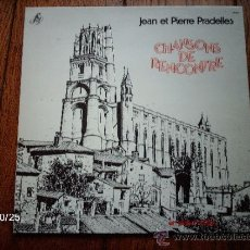 Discos de vinilo: JEAN ET PIERRE PRADELLES - CHANSONS DE RECONTRE . Lote 33916850