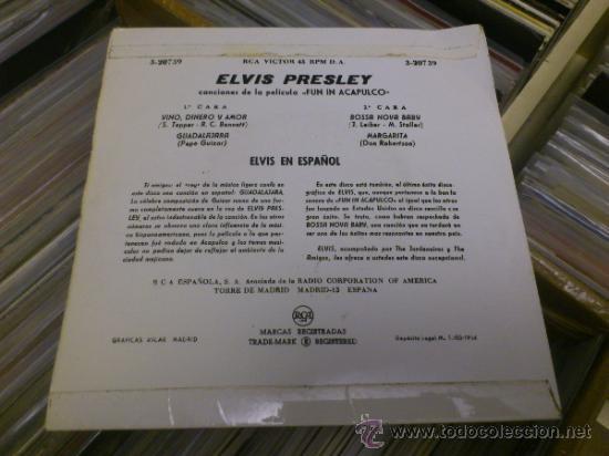 Discos de vinilo: Elvis presley Fun in Acapulco disco de vinilo de 7 pulgadas - Foto 3 - 33899822