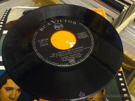 Discos de vinilo: Elvis presley Fun in Acapulco disco de vinilo de 7 pulgadas - Foto 2 - 33899822