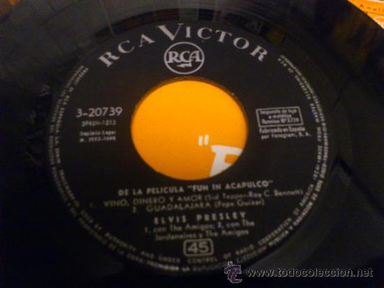 Discos de vinilo: Elvis presley Fun in Acapulco disco de vinilo de 7 pulgadas - Foto 5 - 33899822