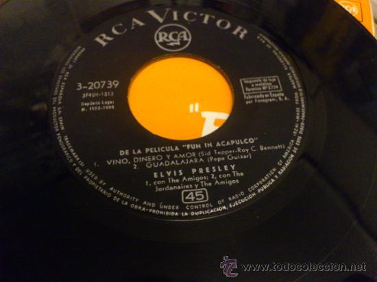 Discos de vinilo: Elvis presley Fun in Acapulco disco de vinilo de 7 pulgadas - Foto 6 - 33899822