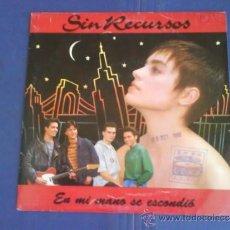 Discos de vinilo: SIN RECURSOS EN MI MANO SE ESCONDIÓ. Lote 33922017