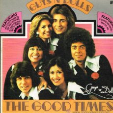 Discos de vinilo: GUYS 'N' DOLLS - FOR THE GOOD TIMES - LP 1977 - PORTADA DOBLE. Lote 33937403