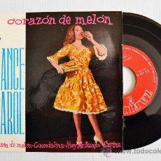 Discos de vinilo: FRANCE CAROL - CORAZON DE MELON/GUENDALINA… (ZAFIRO EP 1960) ESPAÑA. Lote 33942881