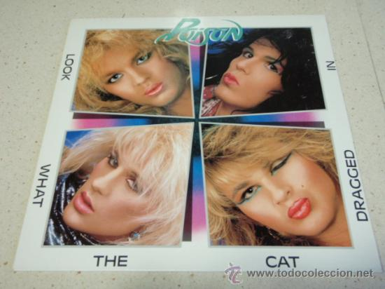 POISON – LOOK WHAT THE CAT DRAGGED IN 1986 HOLANDA ENIGMA (Música - Discos - LP Vinilo - Heavy - Metal)