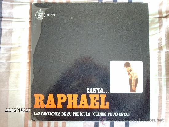 RAPHAEL - CANTA LAS CANCIONES DE SU PELICULA (Música - Discos - LP Vinilo - Solistas Españoles de los 50 y 60)