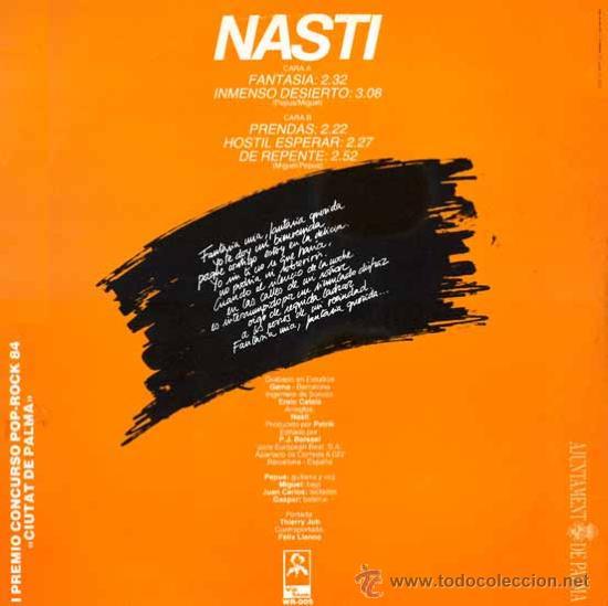 Discos de vinilo: NASTI. FANTASÍA. VINILO ORIGINAL 1984 - Foto 2 - 175391170