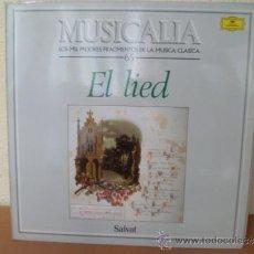 Discos de vinilo: MUSICALIA: Nº 65 EL LIED. Lote 33964524