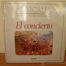 Discos de vinilo: MUSICALIA: Nº 35 - EL CONCIERTO. Lote 33965217