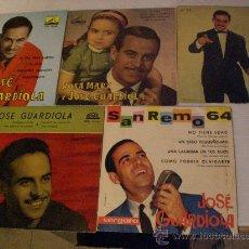 Discos de vinilo: JOSE GUARDIOLA, LOTE 5 EPS. EXITOS AÑOS 60, EXCELENTE ESTADO VER TITULOS EN FOTOS. Lote 33966976