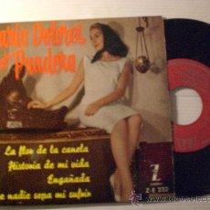 Discos de vinilo: MARIA DOLORES PRADERA, LA FLOR DE LA CANELA, EP ZAFIERO ESPAÑA 1961, NUEVO. Lote 33967074