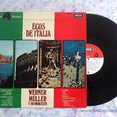 Discos de vinilo: LP ECOS DE ITALIA-WERNER MULLER Y SU ORQUESTA. Lote 33972113