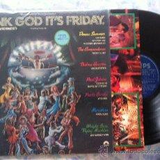 Discos de vinilo: LP THANK GOD IT'S FRIDAY-VARIOS. Lote 33972498