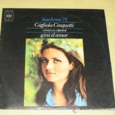 Discos de vinilo: GIGLIOLA CINQUETTI - SAN REMO 72 - VINILO MUY NUEVO. Lote 34070545