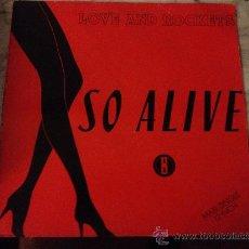 Discos de vinilo: LOVE & ROCKETS 'SO ALIVE'. SÓLO LA FUNDA, DISCO NO.. Lote 213620363