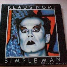 Discos de vinilo: KLAUS NOMI, SIMPLE MAN - LP RCA ESPAÑA 1982, ENCARTE, NUEVO. Lote 91063392