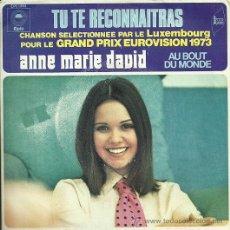 Discos de vinilo: ANE MARIE DAVID EUROVISION ´73 SINGLE SELLO EPIC EDITADO EN FRANCIA. . Lote 34003737