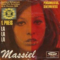 Discos de vinilo: MASSIEL EUROVISION ´68 SINGLE SELLO VOGUE EDITADO EN FRANCIA. . Lote 34004378