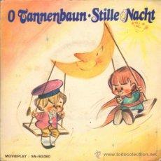 Discos de vinilo: MUSICA GOYO - SINGLE VINILO - CANCIONES INFANTILES - O TANNENBAUN - STILLE NACHT - DISCO ROJO *XX99. Lote 34008337