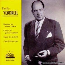 Discos de vinilo: EMILI VENDRELL - ROMANÇ DE SANTA LLÚCIA - 1958. Lote 203292171