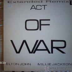 Discos de vinilo: ELTON JOHN - MILLIE JACKSON / ACT OF WAR. Lote 34020257