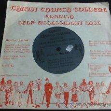 Discos de vinilo: CHRIST CHURCH COLLEGE, ENGLISH SELF ASSESSMENT DISC, MUSIC BY BIG END - FLEXIDISC. Lote 34031004