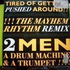 Discos de vinilo: 2 MEN A DRUM MACHINE & TRUMPET / MAXI VER FOTO. Lote 34037405